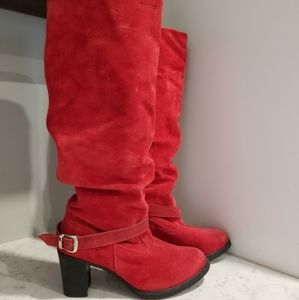 👢MADE IN CANADA RED LEATHER BOOTS